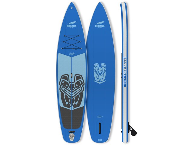 Indiana SUP 11'6 Family Pack Inflatable SUP with 3-Piece Fibre/Composite Paddle, blue